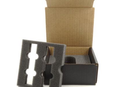 Ambalaj one way din carton cu inserturi din spuma PU
