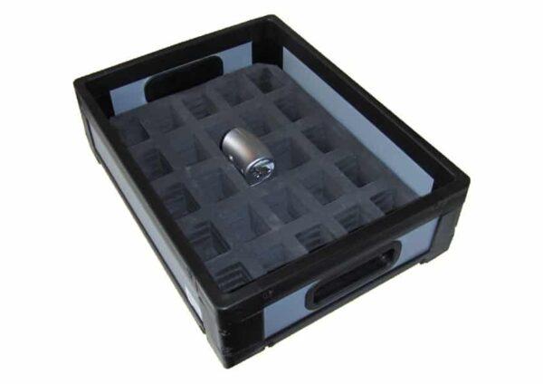 Cutie din plastic alveolar cu separatoare interne din spuma PE