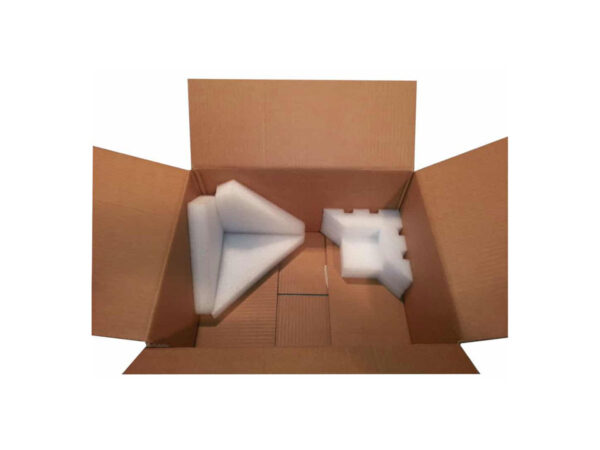 EPE foam protective corners for packaging in cardboard boxes