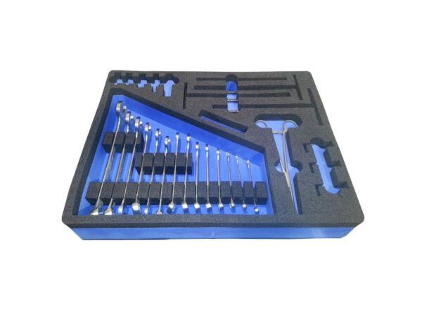Separatoare interne din spuma PE bicolora pentru compartimentare cutie de prezentare