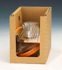 Ambalaj protector cu folie de suspensie si retentie cu compartiment suplimetar pentru accesorii