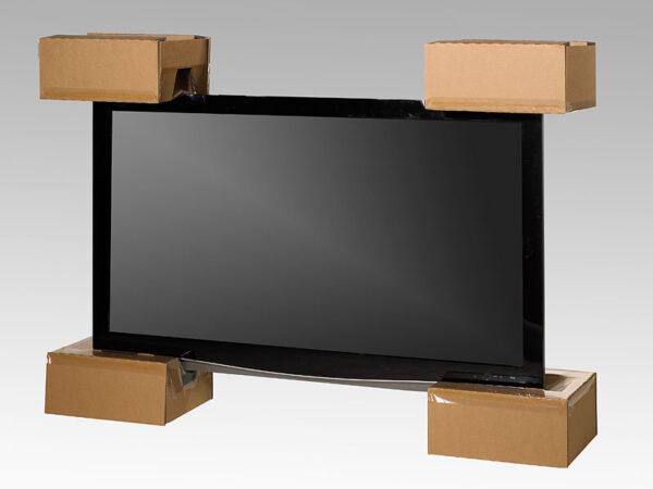 Ambalaj protector cu folie de suspensie si retentie pentru TFT sau LCD