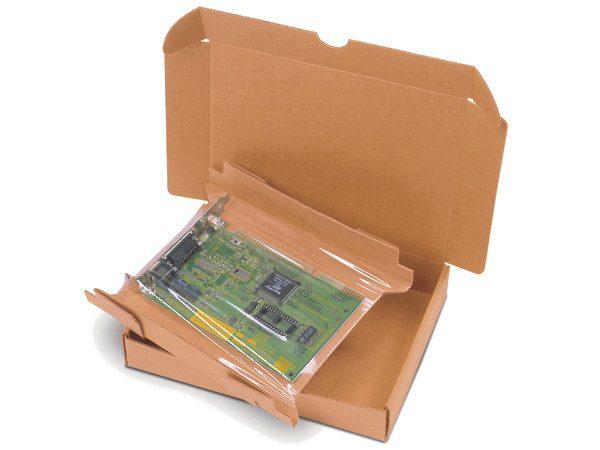 Ambalaj protector cu folie de suspensie si retentie pentru produse de pana la 4 kg