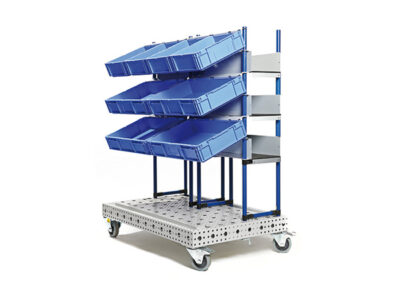 Statie de lucru 4D cu navete de plastic
