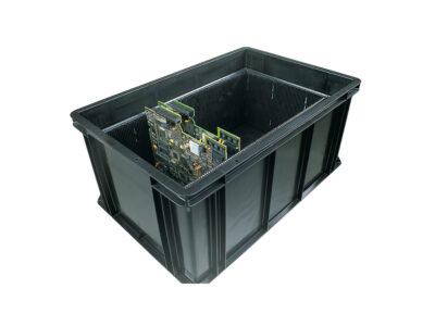 Sistemele de compartimentare pentru placute electronice in navete cu proprietati ESD