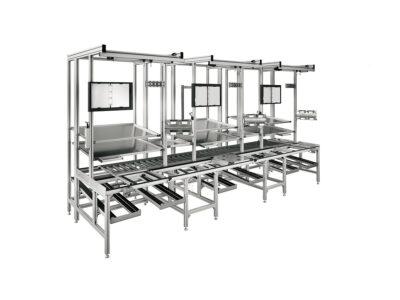 Statii ergonomice de lucru din profile de aluminiu