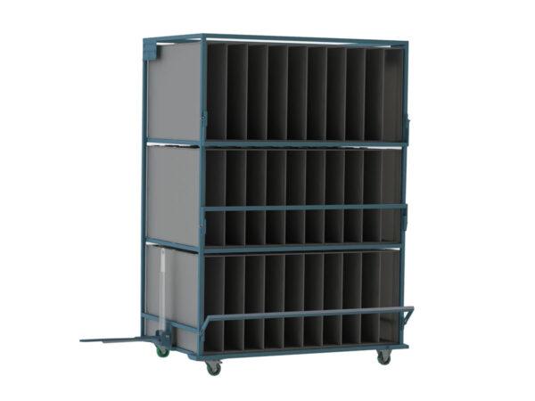 Container metalic cu inserturi din plastic alveolar