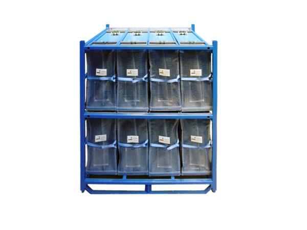 Container metalic cu separatoare