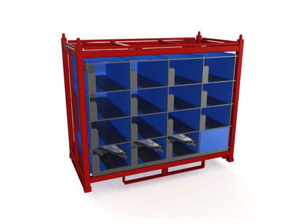 Container metalic cu separatoare interne