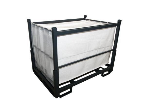 Container metalic pliabil detaliu cu separatoare