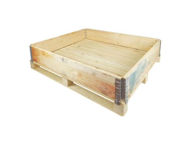 Container pliabil din lemn cu 1 rama de stivuire