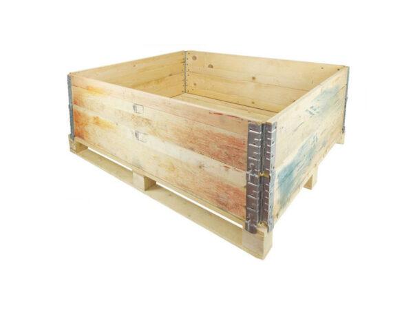 Container pliabil din lemn cu 2 rame de stivuire