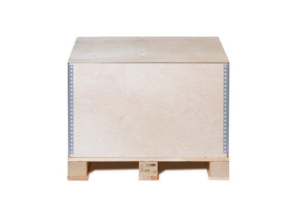 Container pliabil din lemn cu imbinari metalice pe inaltime
