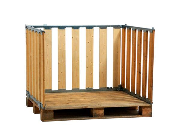Container pliabil din lemn cu pereti deschisi 1