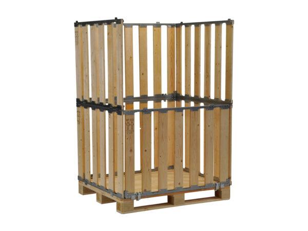 Container pliabil din lemn cu pereti deschisi