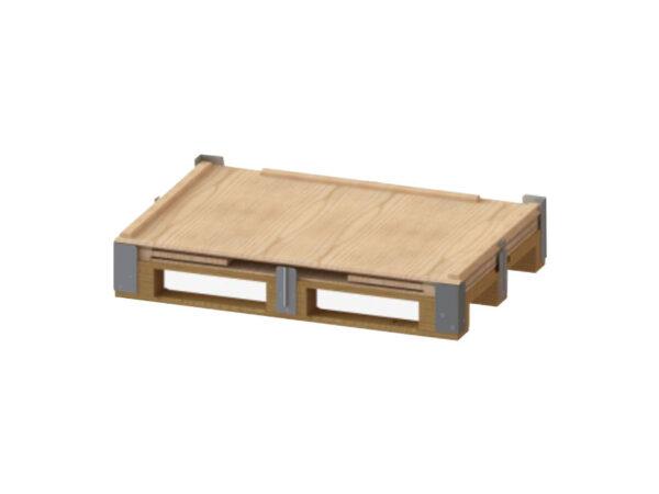 Container pliabil din lemn detaliu pliere