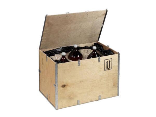 Container pliabil din lemn pentru marfuri periculoase capac atasat