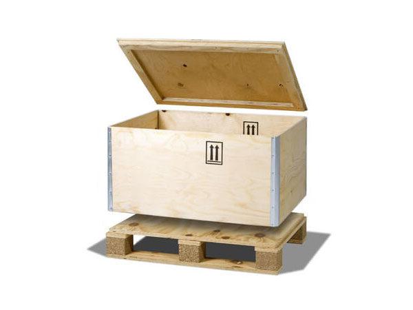 Container pliabil din lemn pentru marfuri periculoase capac detasabil