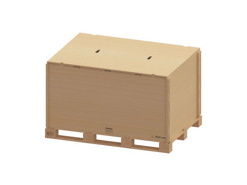 Container pliabil din lemn varianta cu imbinare fara cuie