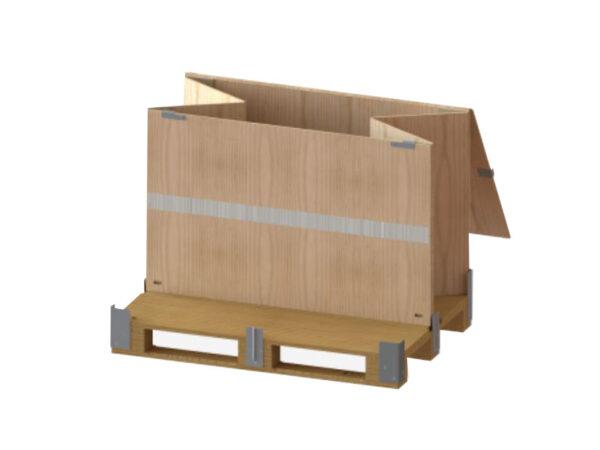 Container pliabil din lemn varianta pliabila pe latime
