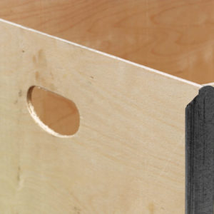 Maner container pliabil din lemn