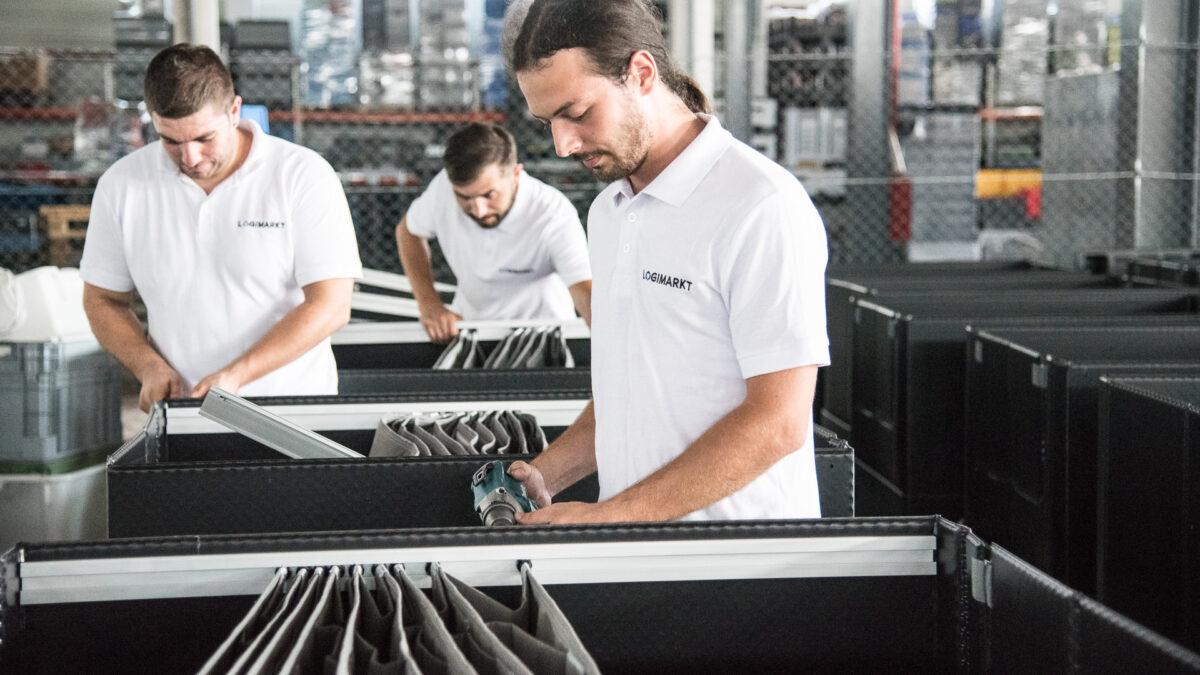 Productie asamblare ambalaj customizat cu separatoare interne textile