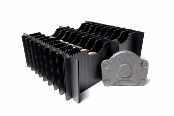 Duraflex and corrugated plastic dunnage inserts