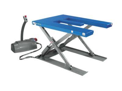 E and U shaped scissor lift tables