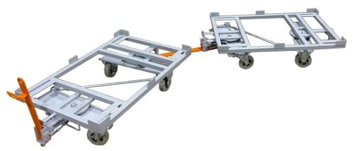 Metal transport trolleys for logistics