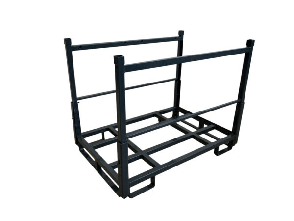 Steel racks and containers