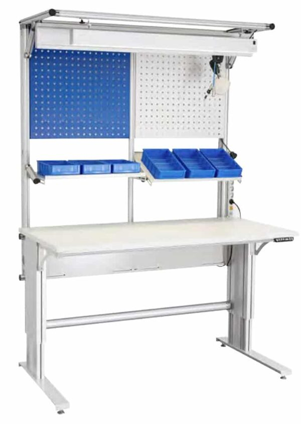 Aluminum profiles workstations and accessories