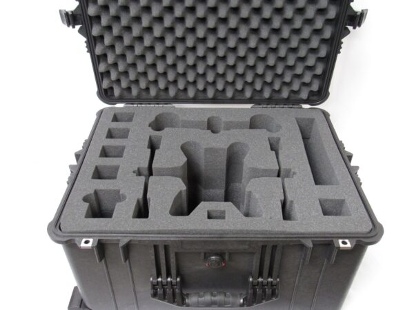 Customized case with PU foam compartments