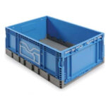 Foldable plastic box or bin FSC6429-0205
