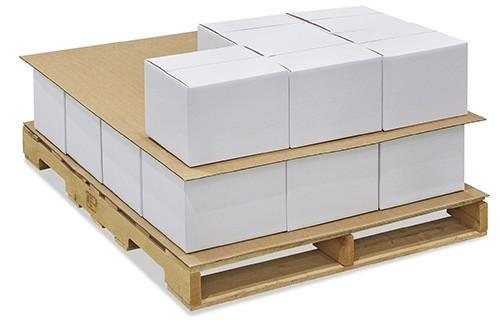 Non-slip sheets/packaging from cardboard