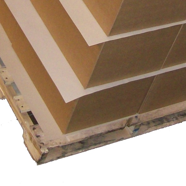 Non-slip sheets/packaging from paper paper