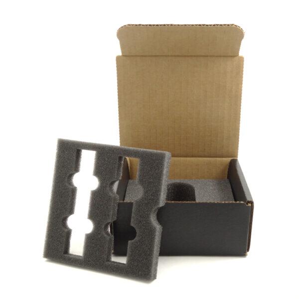 One way cardboard packaging with PU foam inserts