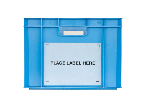 Permanent self-adhesive label holders for self adhesive labels