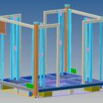 Metallic rack for automotive industry