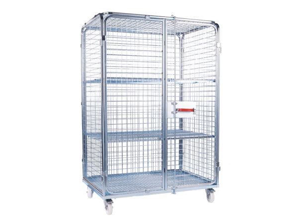 Roll cage container distribution