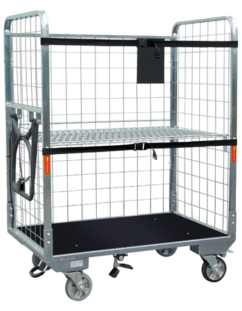 Roll cage container - solid base