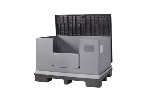Foldable large container with lid FLCL1210-2808