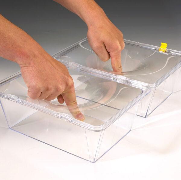 Ambalaj din plastic cu folie de retentie, reutilizabil - metoda