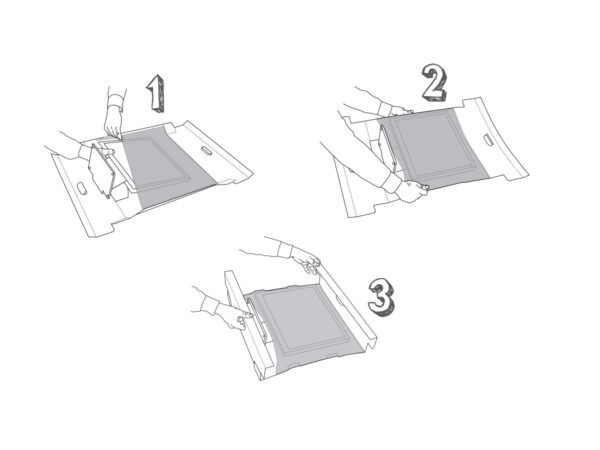 For LCD or TFT monitors suspension packaging - the method