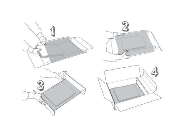 For Laptop duo retention packaging - the method