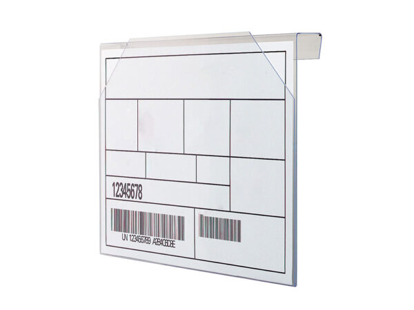 Kanban rigid label holders