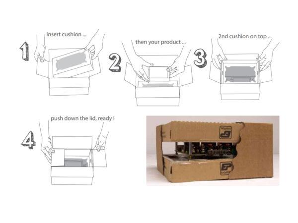 Suspension packaging the method