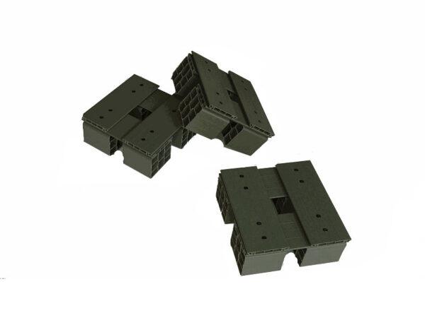 Custom-size plastic pallets 300x300 mm