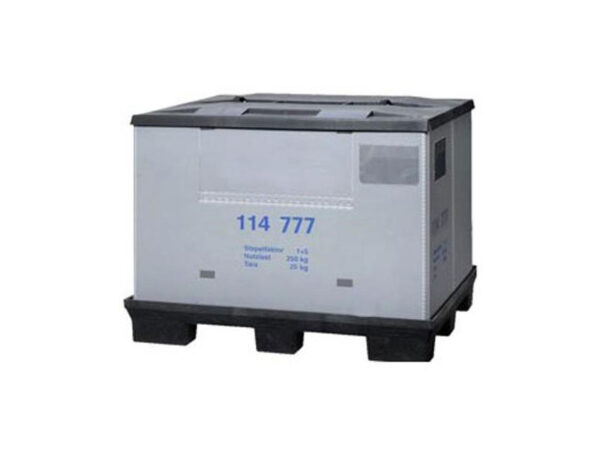 Foldable large container/box/crate with lid FLCL1208-0904 1208-0904 114 777