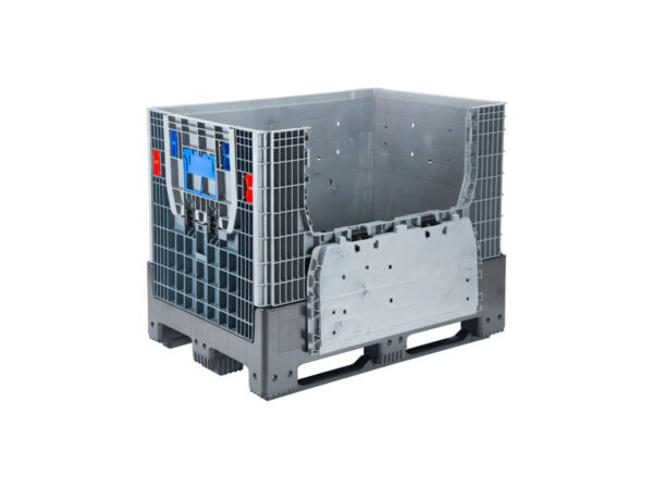 The Foldable Big Containers/pallet boxes with 2 access doors