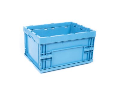 Foldable plastic boxes
